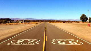 Amboy, CA, is now a ghost town, but Route 66 used to bring traffic to it every day.