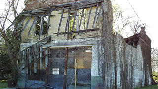 Dilapidated Bryant's Grocery, an Emmett Till historic site.