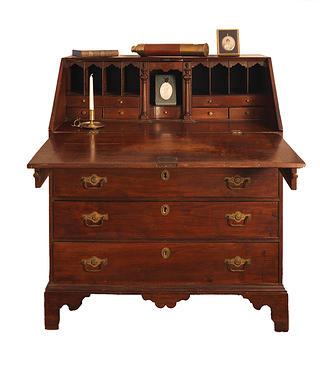 The slant desk formerly belonging to Commodore Stephen Decatur.
