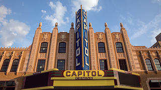 The facade of the Capitol Theatre.