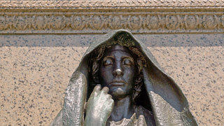 "August Saint-Gaudins ""Grief"" sculpture at the Adams Memorial in Rock Creek Cemetery, Washington, DC"