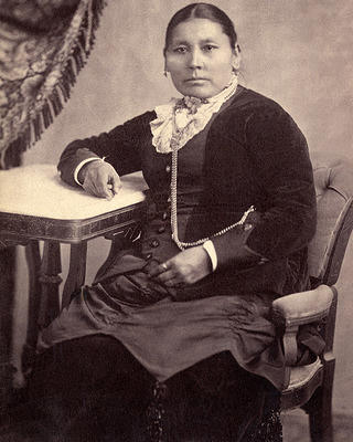 Portrait of Amache Prowers, seated, 1860-1863.