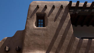 Architectural photo of Acoma pueblo near Albuquerque, New Mexico.
