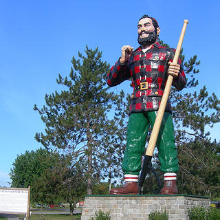 A Paul Bunyan statue in Bangor, Maine.