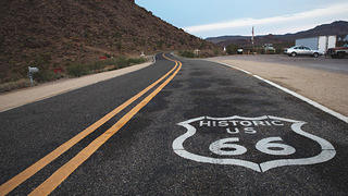 Route 66 in Oatman, Arizona.