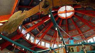 The roof of the Pullen Park carousel.