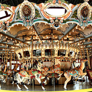 The Dentzel Carousel at Glen Echo Park.
