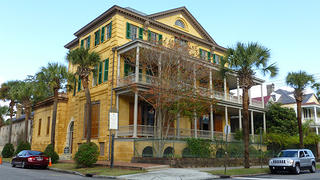 The exterior of the Aiken Rhett House was repainted and repointed to prevent water intrusion.