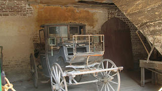 The carriages in Aiken Rhett's stables haven't been moved since the 20th century.