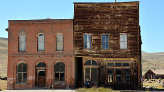 The once bustling town of Bodie had plenty of commercial structures, which are naturally decaying today.