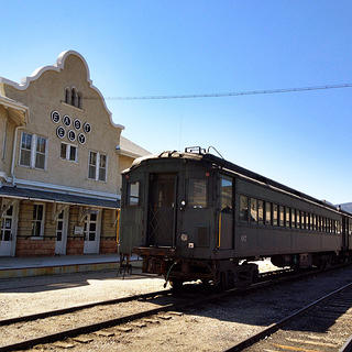 Train stationed at Ely, part of the Nevada Northern Railway