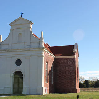 Reconstructed chapel in Historic St. Mary's City, MD.