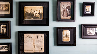 No family home is complete without a set of historic family photographs, which decorate the stairs at the Kuhne-Drews House.