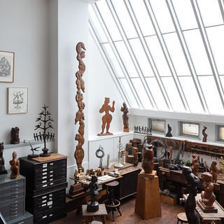 Newly restored skylight inside the studio of Modernist sculptor Chaim Gross