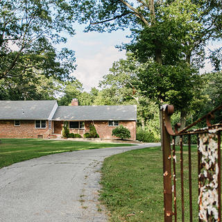 Exterior of John and Alice Coltrane's Dix Hills, New York, home.
