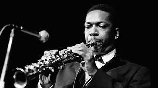 John Coltrane in Copenhagen, Denmark in 1961.