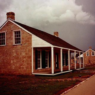 View of a few of the buildings at Fort Concho National Historic Landmark.