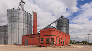 A cottonseed mill in Granger, Texas.