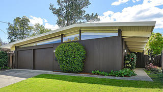Exterior shot of an Eichler home in California.