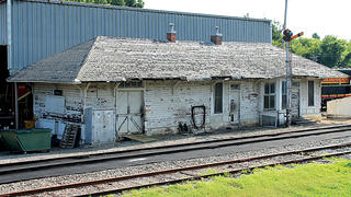 The Rock Island Depot in Perry, Arkansas, is structurally sound but will be repaired once it is moved to a new location.