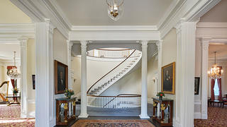 The interior of the newly restored Illinois Governor's Mansion in Springfield.