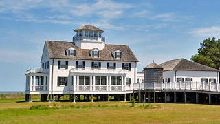A fully refurbished 1936 former Coast Guard Station for sale in Oyster, Virginia