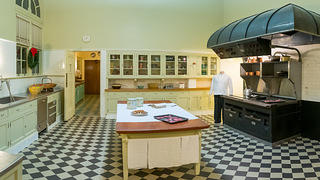 Interior of Filoli's recently renovated kitchen.