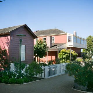 Exterior photo of the Cooper-Molera Adobe.