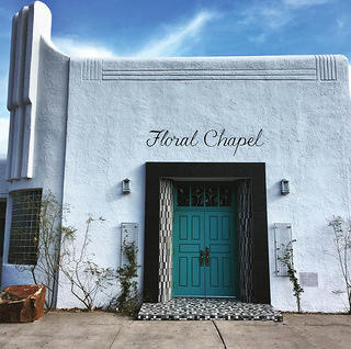 This chapel is located in Albuquerque and was built in a Route 66 town in the 1940s.