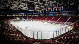 The interior of Herb Brooks Arena.