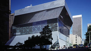 The exterior of Seattle Central Library.