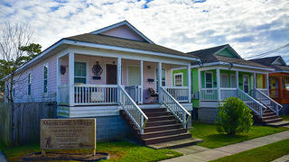 Musicians Village has colorful shotgun houses home to musicians.