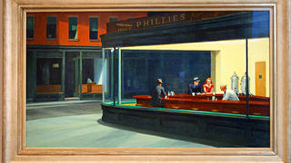 Nighthawks painting by Edward Hopper.