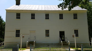 The meeting house was almost ready to reopen after a renovation.