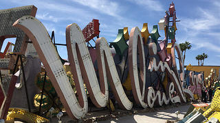 Moulin Rouge Hotel & Casino's neon sign at the Neon Museum in Las Vegas.