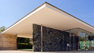 The angular lines of the Barcelona Pavilion was revolutionary for its time.