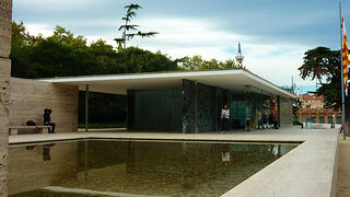 The Barcelona Pavilion was reconstructed to how it looked with Mies designed it.