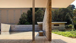 Mies van der Rohe's Barcelona Pavilion used lots of marble.