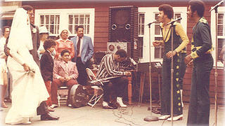 The Commodores performing at Shearer Cottage.