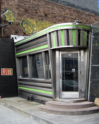 RIB, a popular prefab diner in New York City, has since been demolished.