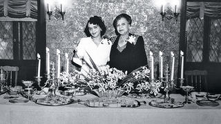 Club founders Della and Fannie in a historic photo.