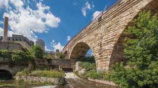 Minneapolis' Stone Arch Bridge and Mill Ruins