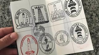 Nathan Wilson's lighthouse passport has gained twelve stamps in under two years.
