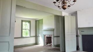 The upstairs of the John C. Plumer house is full of details ready to be restored.