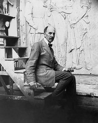 Sculptor Daniel Chester French.
