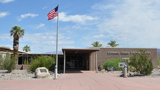 Furnace Creek Visitor Center was built in 1959 by NPS architect Cecil Doty
