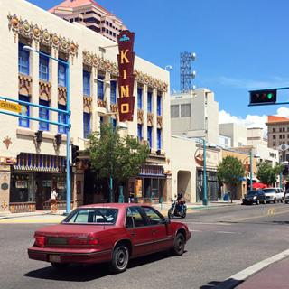 The Kimo Theater on historic Route 66 in downtown Albuquerque, New Mexico.