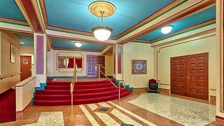 The lobby of the Attucks Theatre.