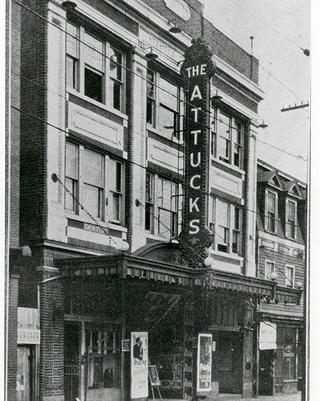 A photo of the Attucks Theatre from 1927.