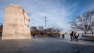 Side view of Martin Luther King, Jr. Memorial.